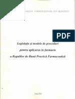 Legislatie Si Modele de Proceduri Pentru Aplicarea in Farmacie. Reguli de Buna Practica in Farmacie