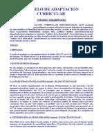 07. Modelo de Adaptacion Curricular Modelo Simplificado