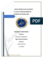 Tecnicas de Difusion y Perfusion en Resonancia Magnetica