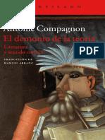 Compagnon Antoine - El Demonio De La Teoria - Literatura Y Sentido Comun.pdf