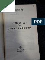 pamfletul in literatura romana