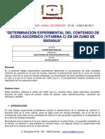 Vitamina C informe organico