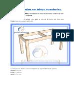 Mesa de madera con tablero de melamina.doc