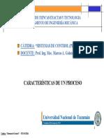 caracteristicas de un proceso , analisis de respuesta transitoria