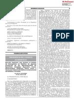 Declaratoria de Estado Emergencia n 062-2018