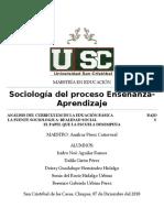 Analisis Del Curriculum de La Eduación Básica Bajo La Fuente Sociologica