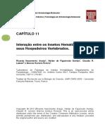 Capitulo 11 Interacao Entre Os Insetos Hematofagos e Seus Hospedeiros Vertebrados.