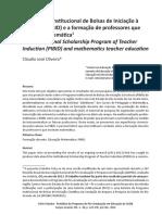 O Programa Institucional de Bolsas de Iniciação à Docência (PIBID) e a formação de professores que ensinam matemática