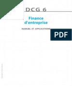 DCG 6- Finance d'Entreprise