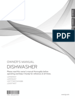 LG Dishwasher LDF7774ST Owner's Manual (English)