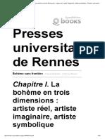 Heinich, Nathalie, La Bohème en Trois Dimensions