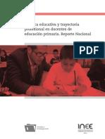 INEE Práctica Educativa y Trayectoria Profesional en Docentes de Educación Primaria. México 2018