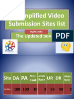 67 Simplified Video Submission Sites List