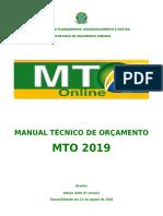 Manual Técnico de Orçamento 2019