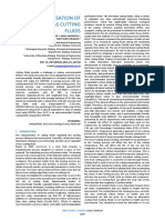 Characterization of Aloevera as Cutting Fluid