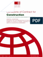 Cover Page From FIDIC (Red) Contract for Construction 1999