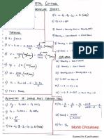 Metal Cutting Formulae Sheet @Mohit Chouksey