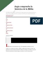 La Arqueología Comprueba La Exactitud Histórica de La Biblia