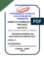 Sistema General de Solución de Conflictos-Actividad Nº 05