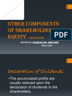 Other Components of Shareholders' Equity
