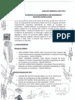 Acta de diligencia del allanamiento a las oficinas de los asesores de Pedro Chávarry
