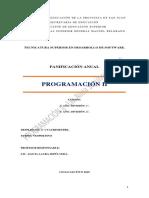 Programacion II Planificacion 2018