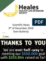 Heales Scientific News 9th of December 2018