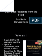 Oracle DBA Best practices