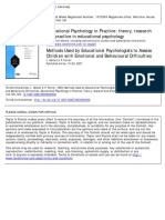 Educational Psychology in Practice Volume 9 Issue 3 1993 [Doi 10.1080%2F0266736930090306] McCall, L.; Farrell, P. -- Methods Used by Educational Psychologists to Assess Children With Emotional and Beh