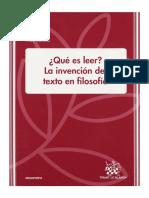 P. Vidarte - Qué es leer. La invención del texto en filosofía.pdf