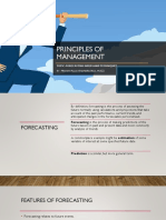 Principles of Management Forecasting PPT