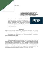 DENR Administrative Order No. 96-29 (DENR-DAO 1996-29) | October 10, 1996