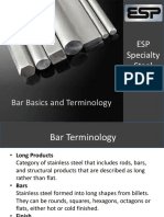 Bar Basics and Terminology