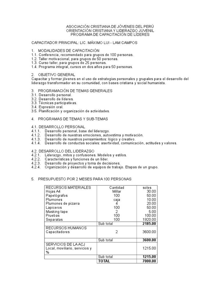 Programa De Liderazgo Para Cedapal Liderazgo Liderazgo Y