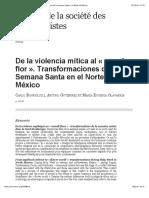 2004 de La Violencia Mítica Al «Mundo Flor». Transformaciones de La Semana Santa en El Norte de México