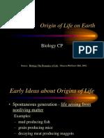Origin of Life Presentation 09-10 KR