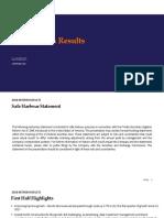 Interim Results 2018 Analyst Presentation