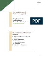 Social Context of Performance Appraisal