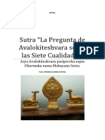 246844343 Sutra La Pregunta de Avalokiteshvara Sobre Las Siete Cualidades Docx