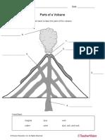 Volcano Parts Worksheet
