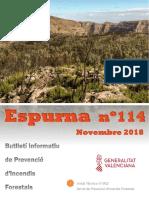 Butlletí informatiu de prevenció d'incendis forestals - Espurna novembre 2018