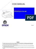 Epson Stylus Color 980 Service Manual