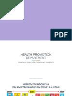 Promosi Kesehatan FKM Untad