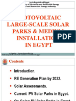 PV for Large - Scal Solar Parks in Egypt