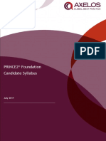PRINCE2 2017 Foundation Syllabus
