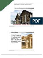 Sistema de Tabiques, estructura de sistema en madera