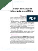 08 O Mundo Romano Da Monarquia a Republica