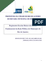 ResolucaoSME 1074-Regimento Escolar Rede Municipal