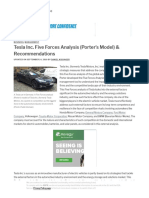 Tesla Inc. Five Forces Analysis (Porter's Model) & Recommendations - Panmore Institute