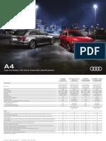 A4 Sedan Avant Specification Guide 2018